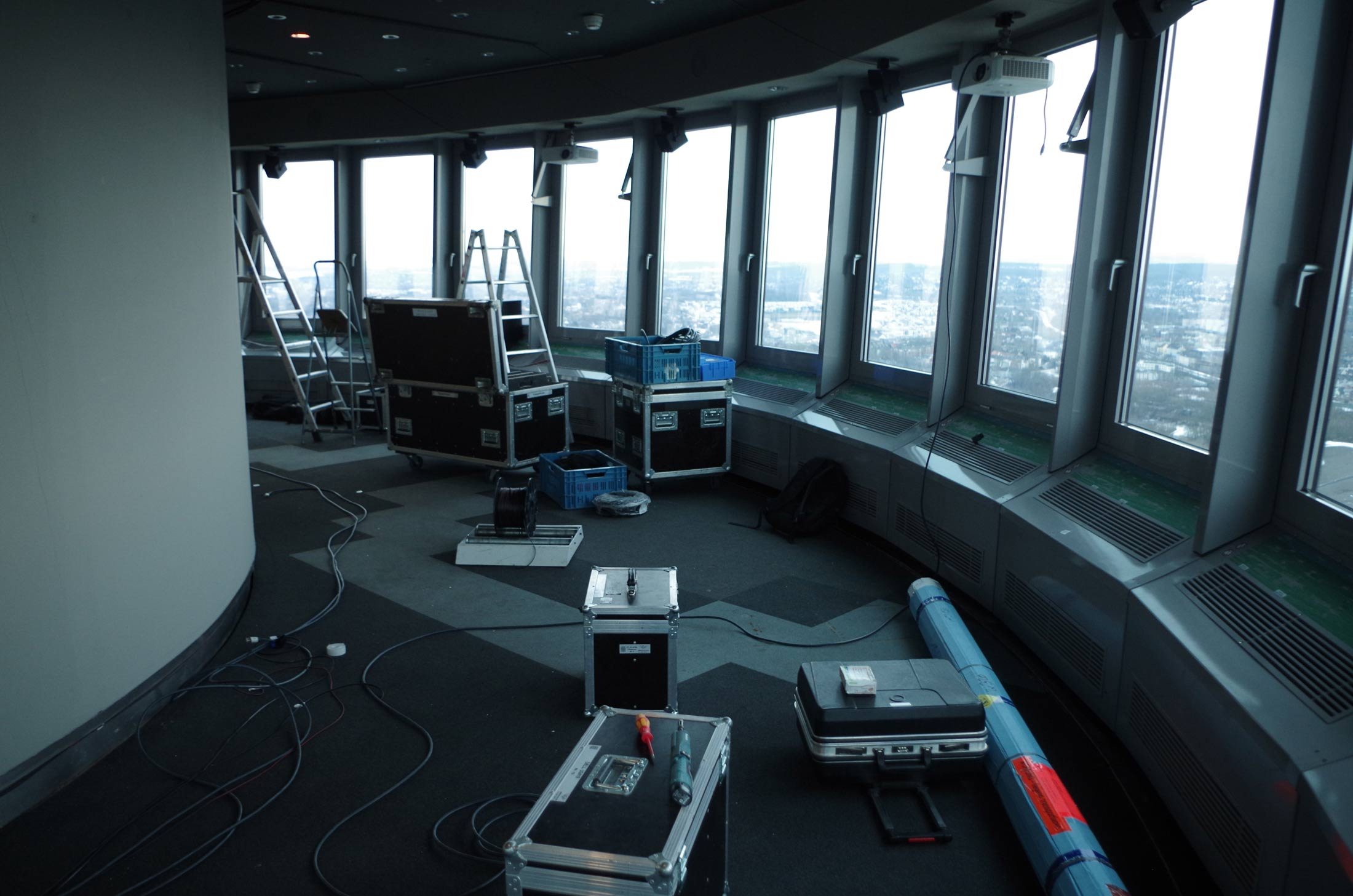 <h1>'Directions'  Audio/Video Installation inside the top of the TV-Tower Dortmund, Germany</h1>
